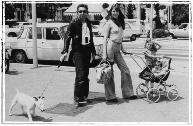 Serge Gainsbourg and bullterrier