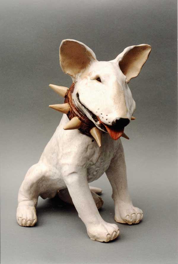 фигурка бультерьера в керамике английского дизайнера Sue Whimster