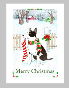 Merry Christmas Bull Terrier